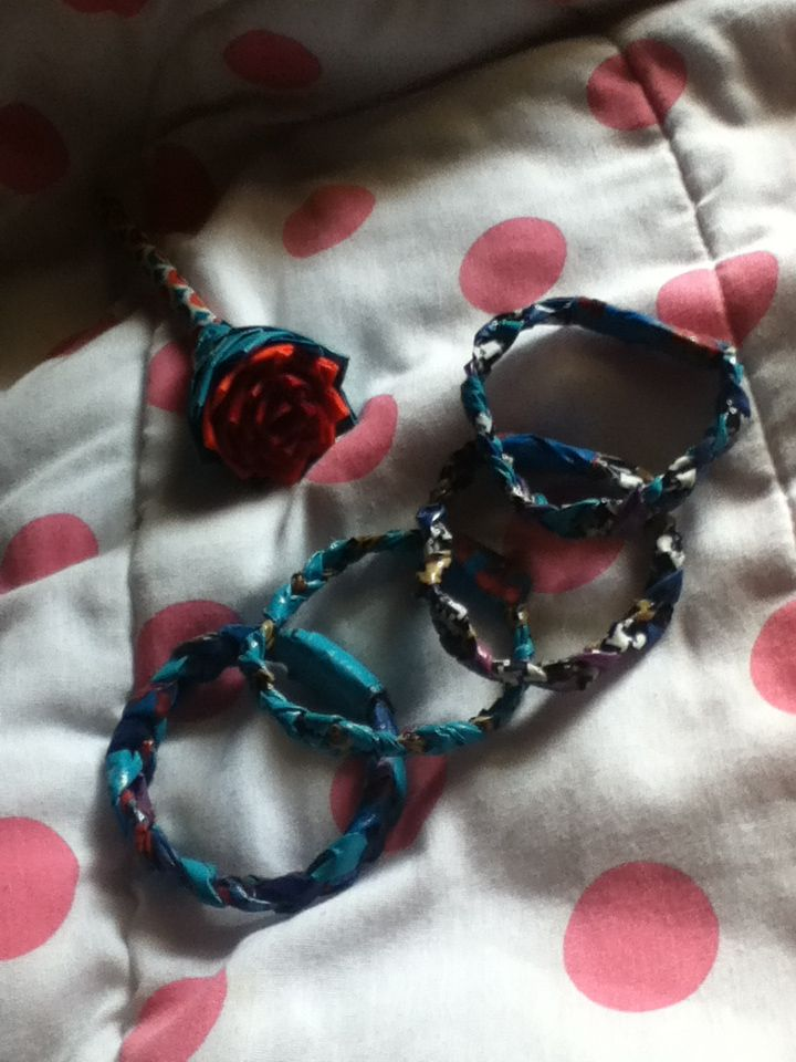 DIY braided bracelets made with duck tape and a duck tape pen :)