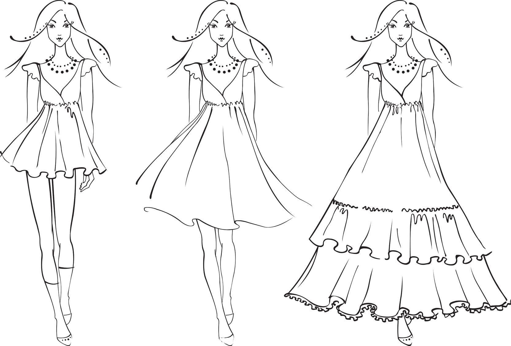 42 Printable Fashion Design Coloring Pages In 2020 Fashion Design Sketches Fashion Design Coloring Book Colorful Fashion