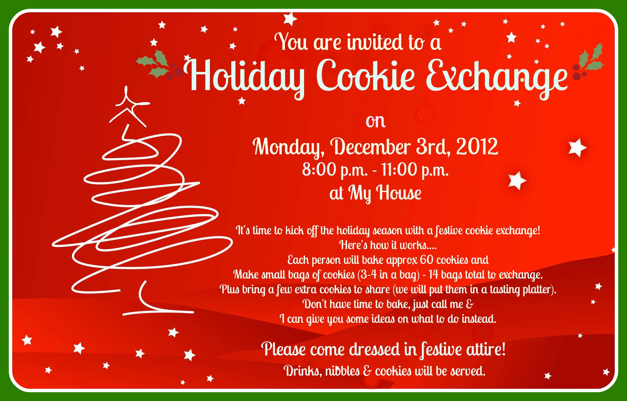 Christmas cookie exchange party rules | Cookie Exchange/Holiday ...