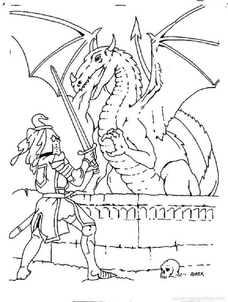 Knights And Dragons Coloring Pages Dragon Coloring Page Coloring Pages Flag Coloring Pages