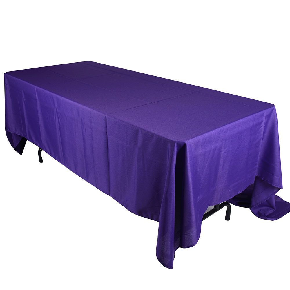 Purple 90 x 156 Rectangle Tablecloths ( 90 inch x 156