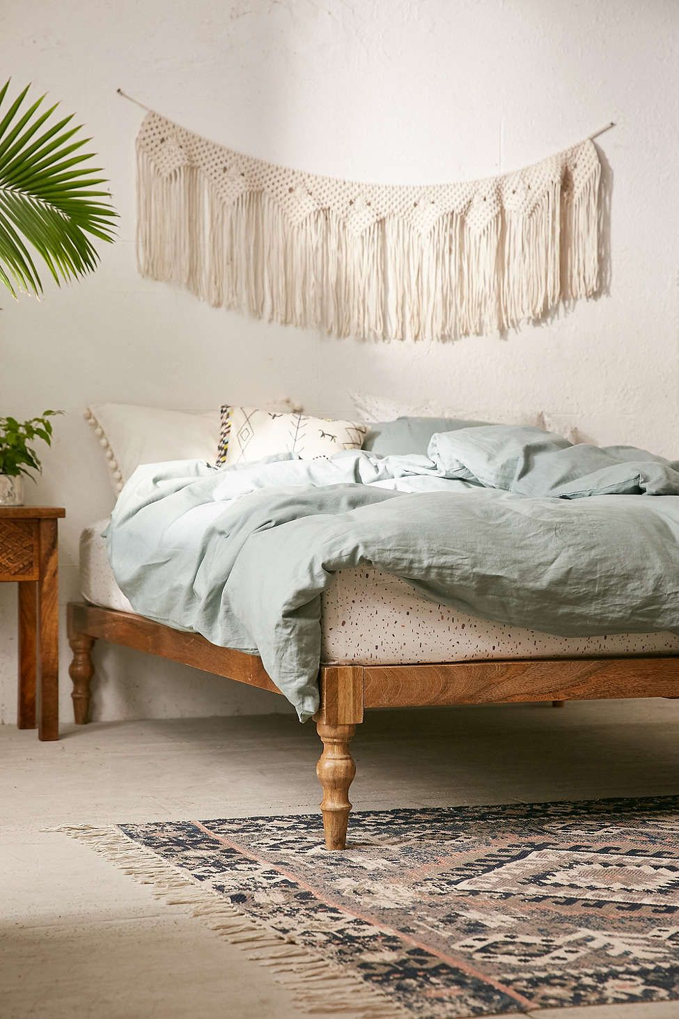 Bohemian Platform Bed Bedroom Decor Home Bedroom Wood Platform Bed