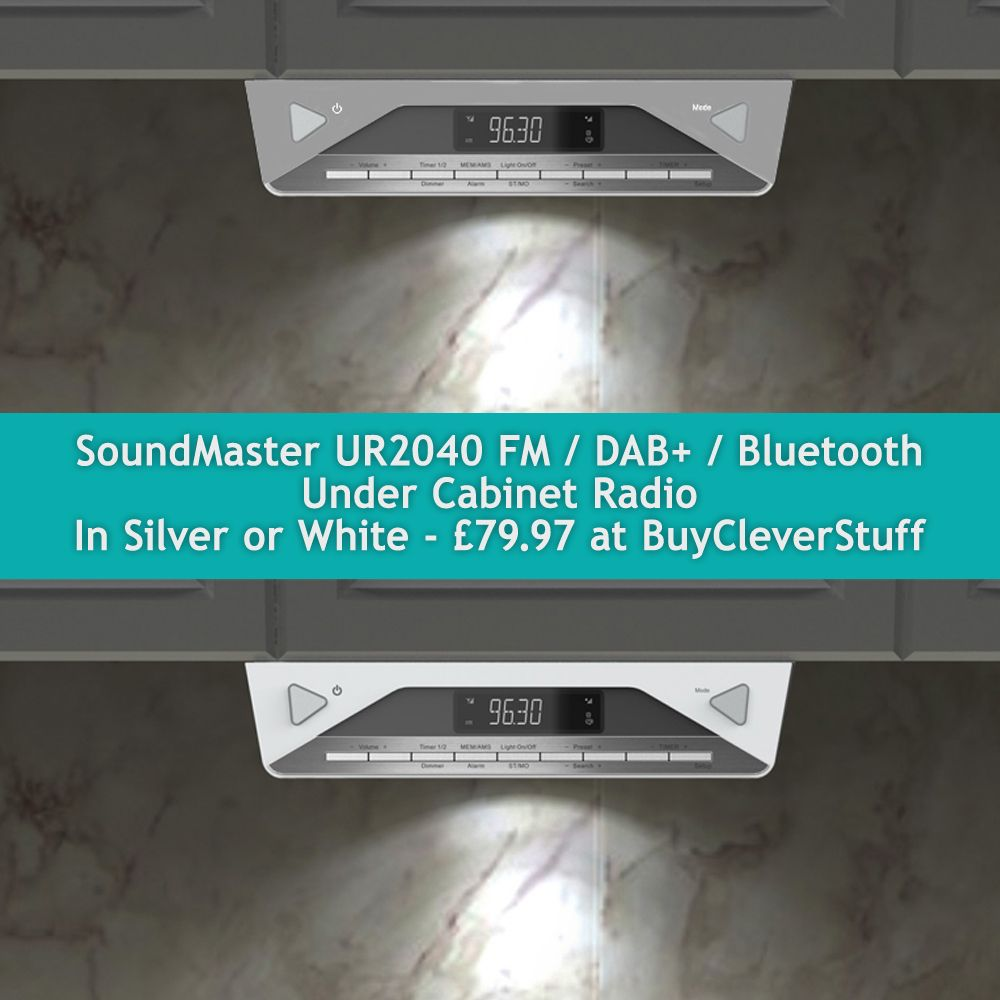 Soundmaster Ur2045si Bluetooth Under Cabinet Kitchen Fm Dab Radio Under Cabinet Radio Under Cabinet Kitchen Radio