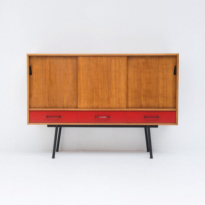 Sideboard 102 By Janine Abraham Meubles Tv Edition 1952 Janine Abraham S First Piece Of Furniture She Was Still At Mobilier De Salon Ecole Camondo Design