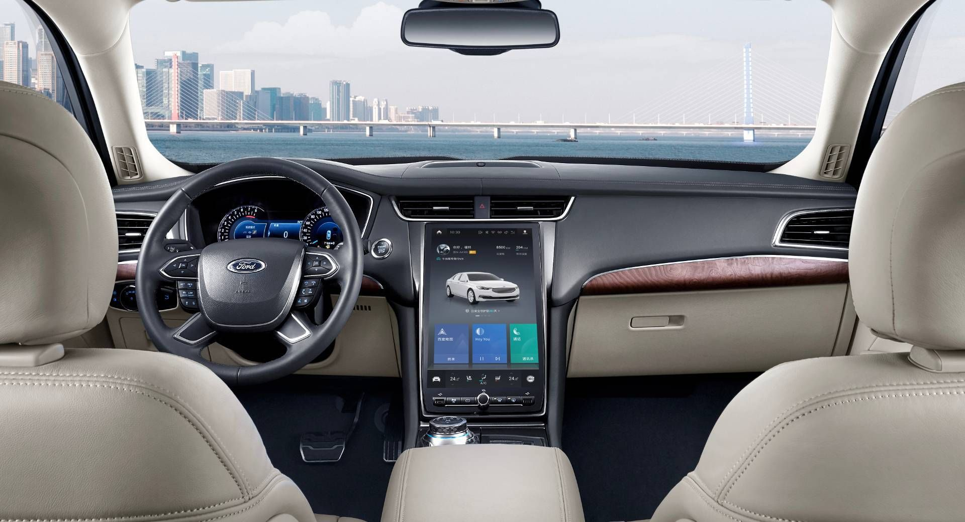 2020 Ford Taurus Vignale Boasts 12 8 Inch Tablet Touchscreen In China Changan China Ford Fordtaurus Infotainment High End Cars Taurus Ford Explorer Sport
