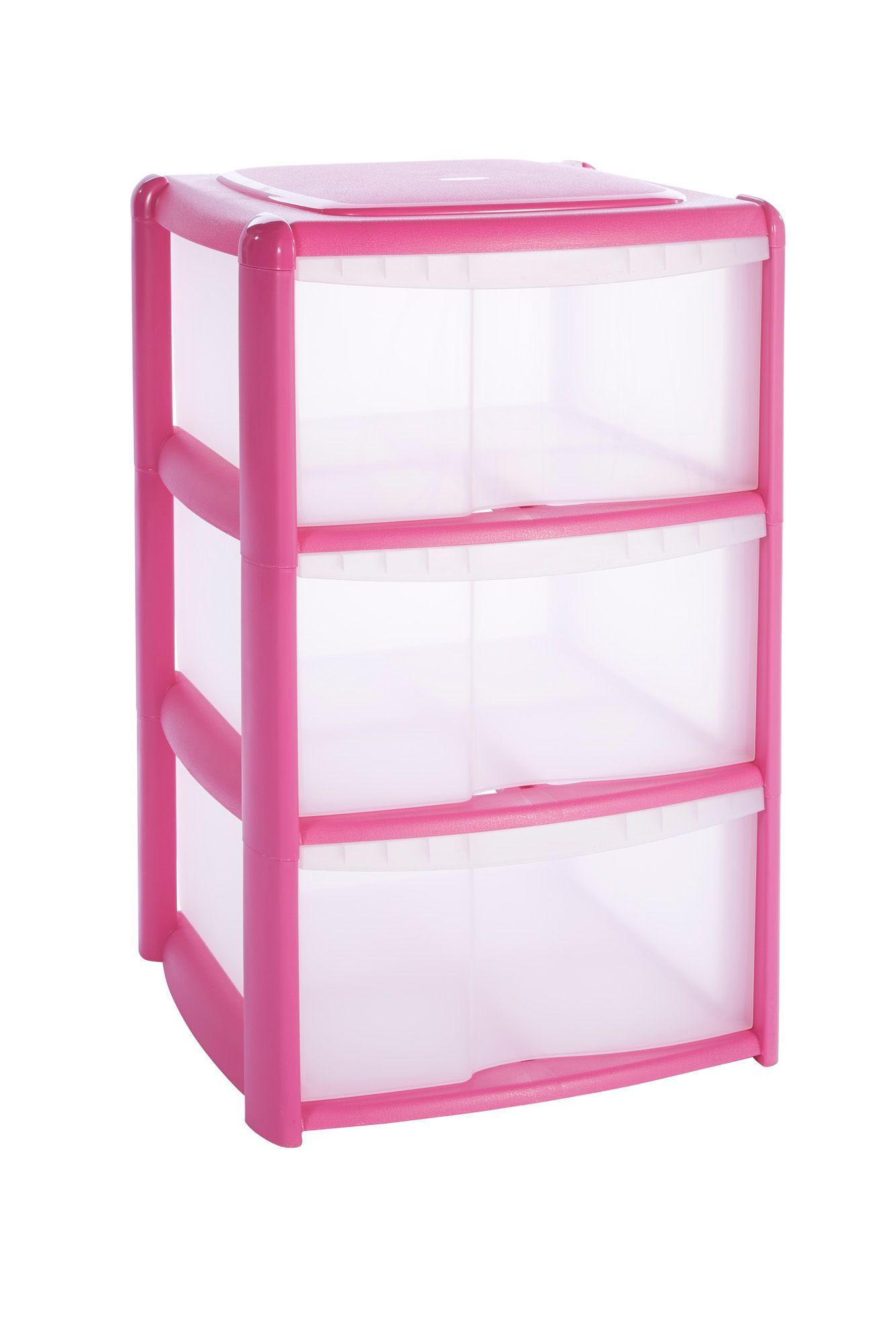 b q pink plastic 3 drawer tower unit rooms diy at b q furniture pink plastic plastic. Black Bedroom Furniture Sets. Home Design Ideas