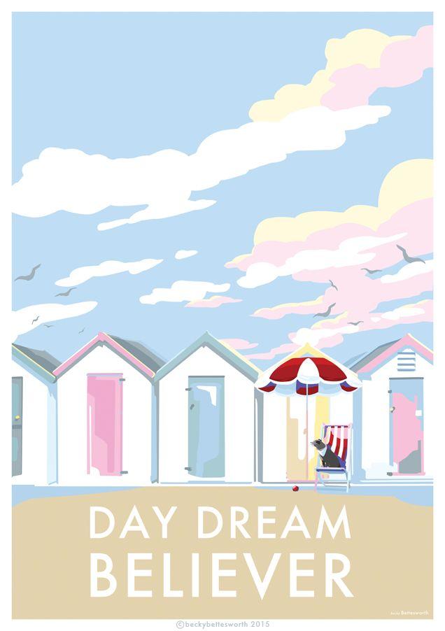 Travel Posters & Seaside Prints & Retro Quote Prints