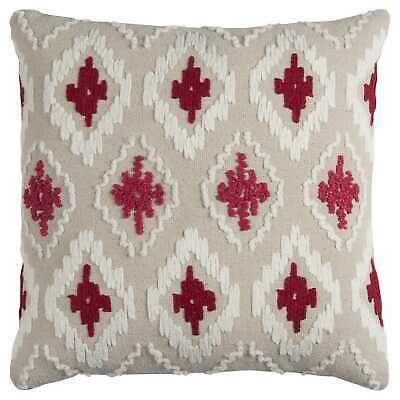 Rizzy Home Off-white/ Red Diamond Cotton Canvas Decorative Natural 20 x 20 #fashion #home #garden #homedcor #pillows (ebay link)