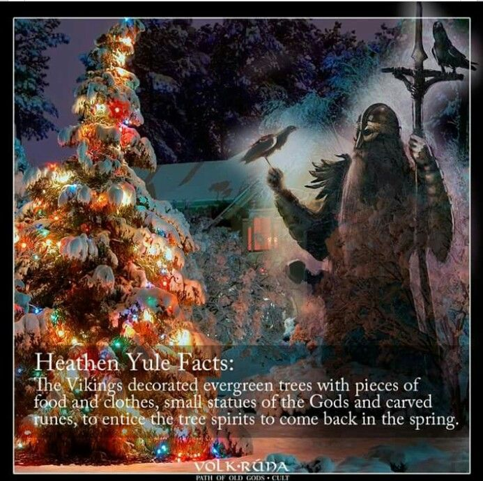 Pagan Christmas Tree.Decorating In Viking Times Original Christmas Tree Was A