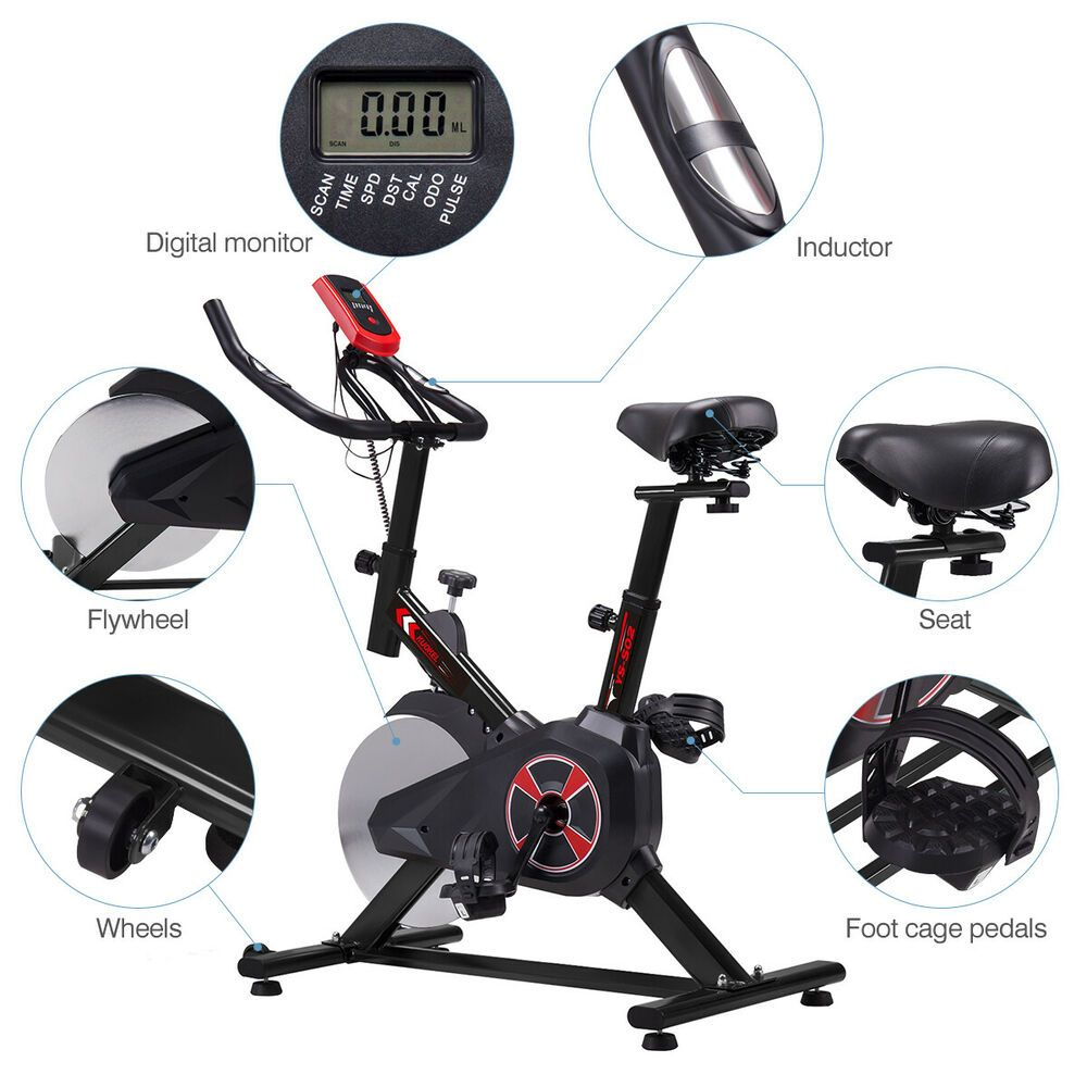 Ad Ebay Stationary Exercise Spinning Bicycle Fitness Cardio