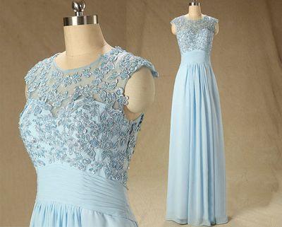 blue prom dress, long prom dress, 2016 prom dress, cheap prom dress, custom prom dress,PD1794