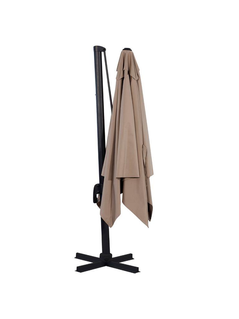 parasol flexo lateral aluminio exterior mobiliario ideal