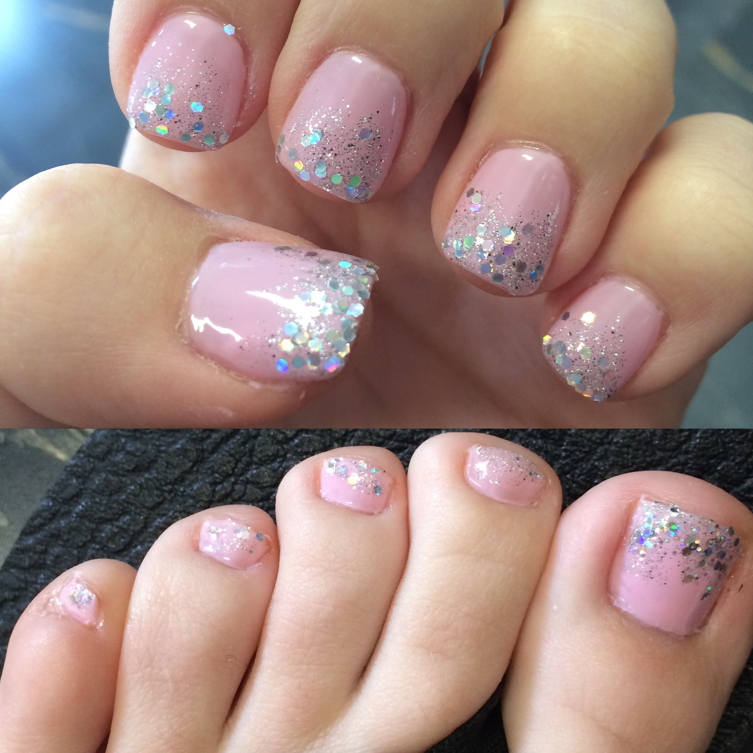 Prom (or wedding) nails and toes | Prom. | Pinterest | Nagelkunst ...
