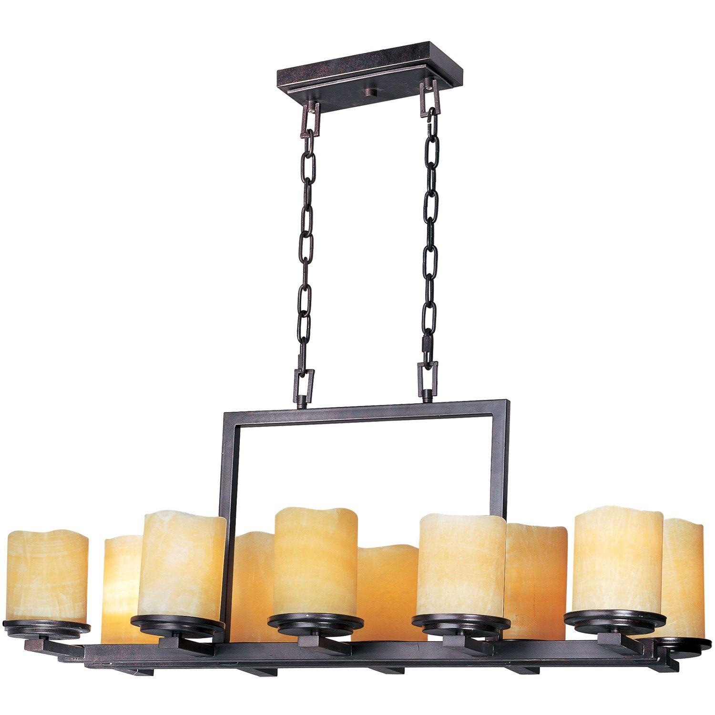 Maxim Lighting International Rustic Ebony Luminous Ten Light