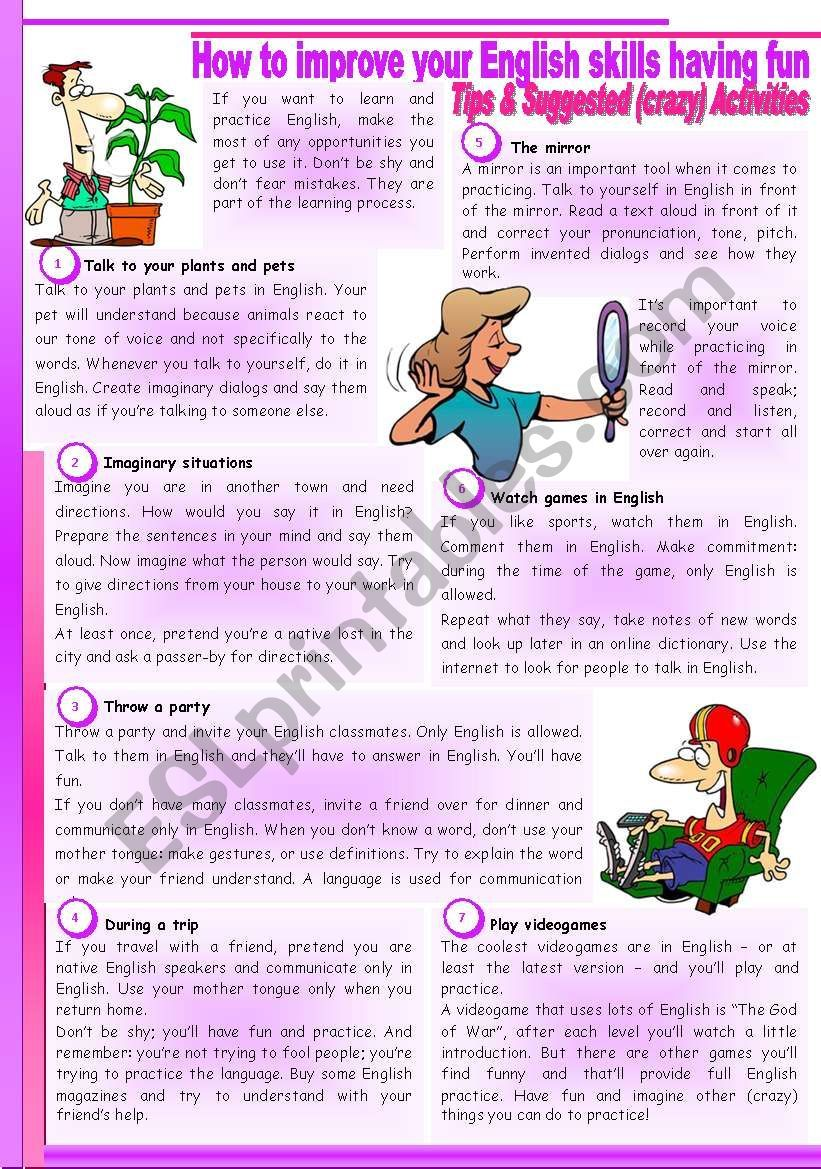 How To Improve Your English Skills Having Fun Students Guide Reading Tips And Crazy Activit Improve Your English English Reading Skills Improve English How to improve english reading