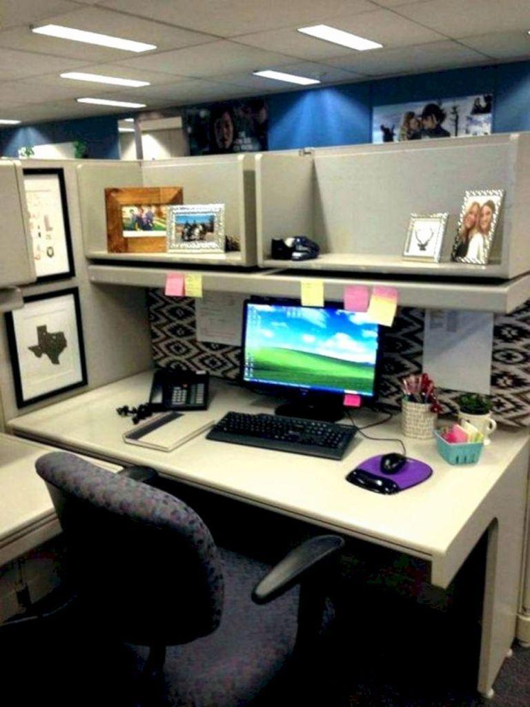 Cubicle Workspace Decoration 02 Business office decor