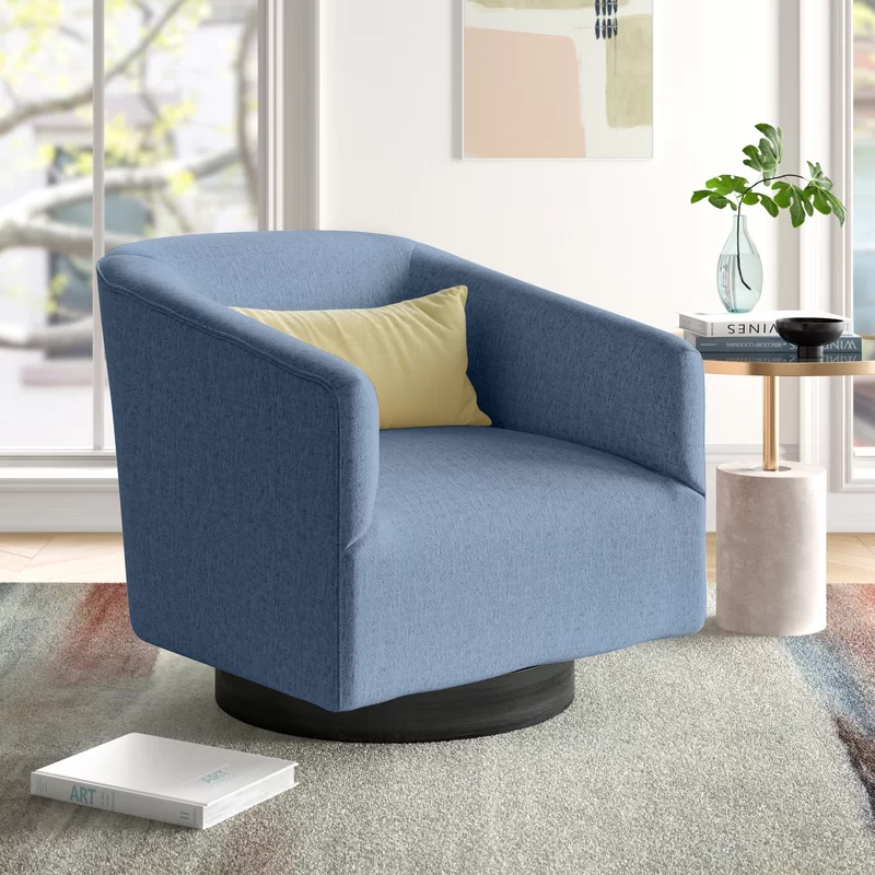 Foundstone Chaplin Swivel Barrel Chair Reviews Wayfair In 2020 Swivel Barrel Chair Barrel Chair Chair Upholstery #swivel #armchairs #for #living #room