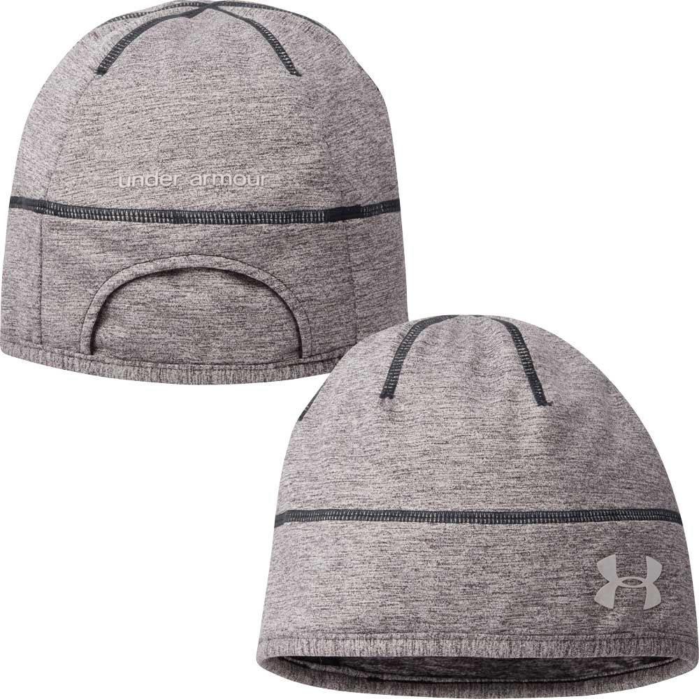 305c9708028 for women who run with their hair pulled up into a pony tail use this   underarmour ColdGear® Infrared Run Reflective Beanie