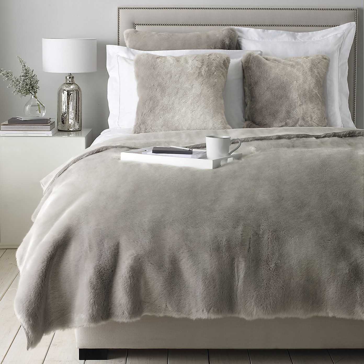 Supreme Faux Fur Collection Silver The White Company