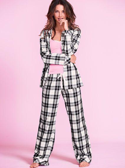 285e6fd1b07c The Dreamer Flannel Pajama - black white plaid