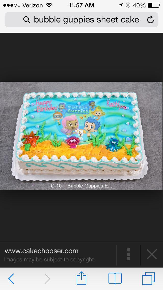 Miraculous Bubble Guppie Sheet Cake Bubble Guppies Birthday Cake Bubble Birthday Cards Printable Inklcafe Filternl