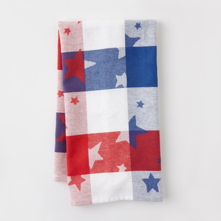 Mainstays Stars Plaid Red And White Kitchen Towel Multiple