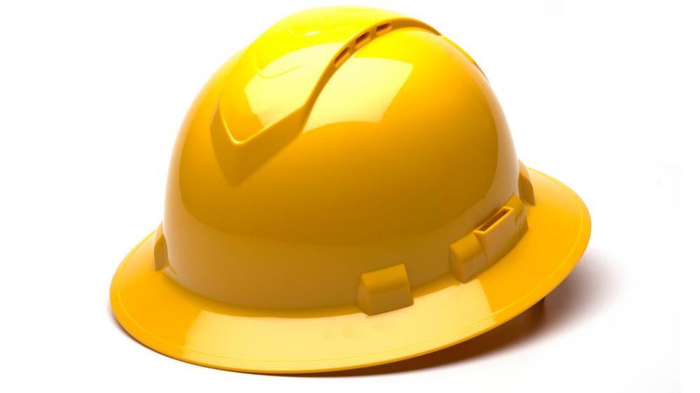 Ridgeline Vented Full Brim Hard Hats With 4 Point Ratchet Hard Hats Hard Hat Industrial Design Portfolio