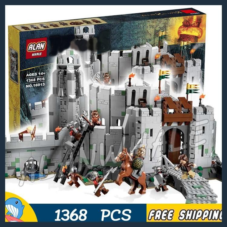 Blocks Model Building 1368pcs The Lord Of The Rings The Battle Of Helms Deep Fortress 16013 Model Building Blocks Toys Bricks Compatible With Lego