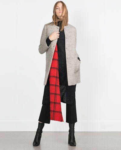 zara nouvelle collection manteau en mohair zara hiver 2015 2016 pinterest zara women. Black Bedroom Furniture Sets. Home Design Ideas