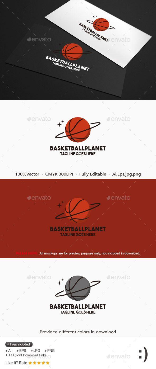 Basketball Planet Logo Design Template Circle Logo Design Planet Vector