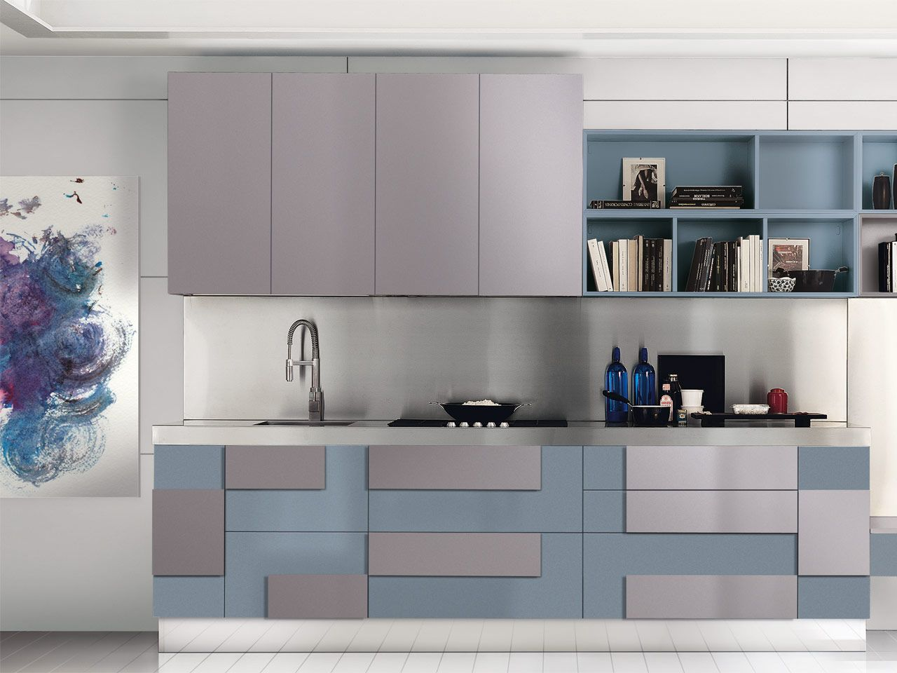 Cucine #LUBE presents mobile geometric forms that make your ...