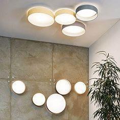 LICHT TREND LED Deckenlampe PALO Textilschirm Taupe Amazonde