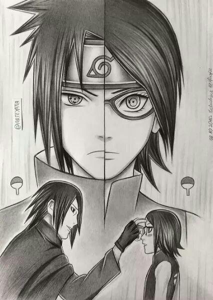 Paiefilha Sasuke E Sarada Uchiha Itachi Uchiha Naruto