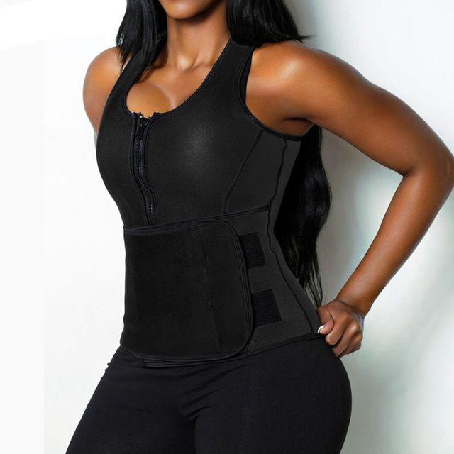 b7ed27be79480 NEW Neoprene Sauna Vest Body Shaper Slimming Waist Trainer Hot Shaper  Fashion Workout Shapewear Adjustable Sweat
