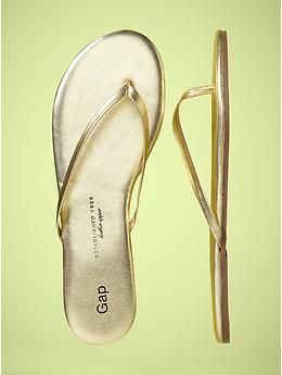 d4ac61989a51 Must Have      Gap GOLD Flip Flops  30 CAD. I can t find these on the Gap  Canada site though... hope they have them in store.