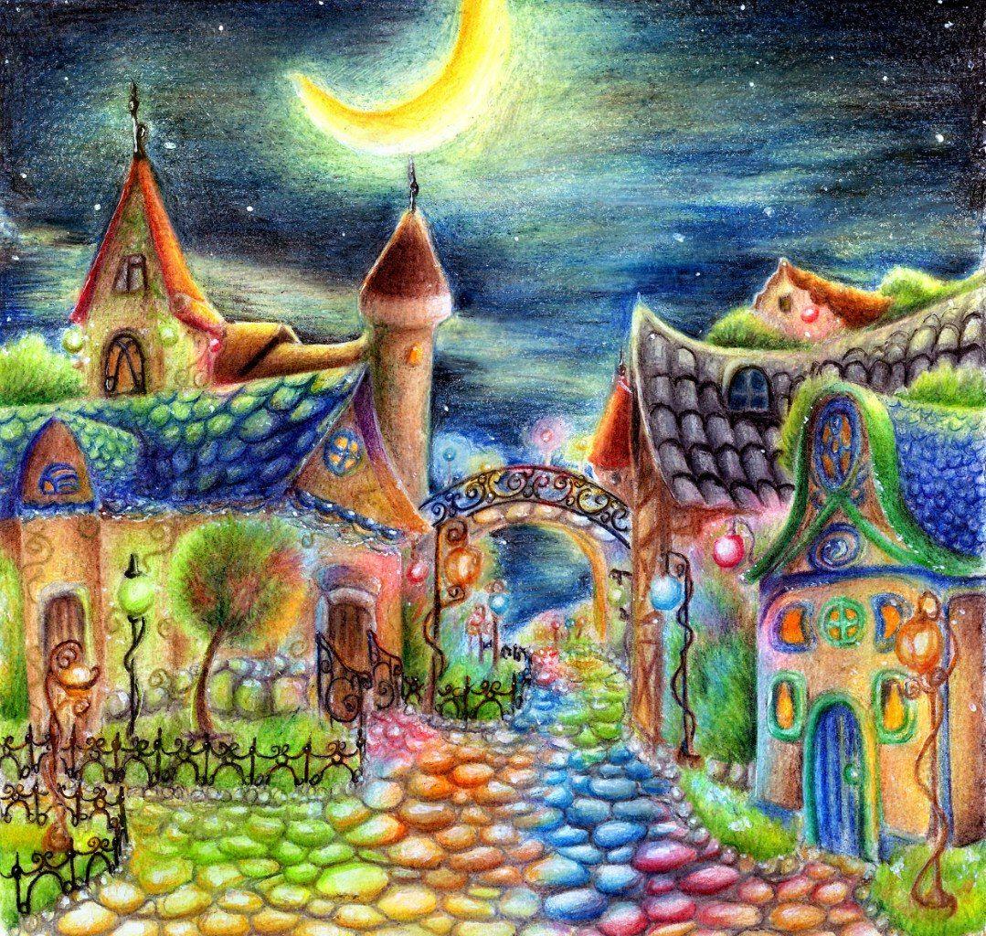 Рисунок сказочная страна одним цветом