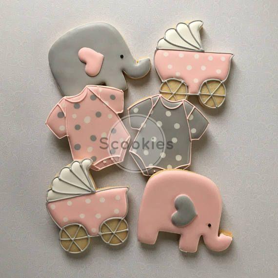 Galletas Baby Shower Para Niña Galletas De Elefante