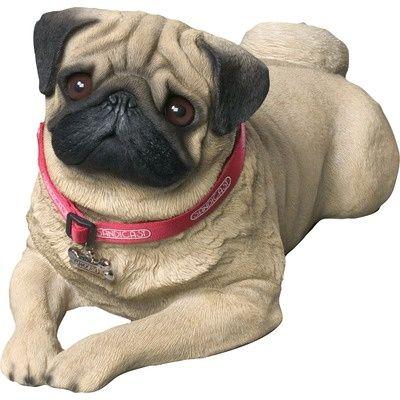 Dulin 5 Piece Sculpture Set Fawn Pug Pugs Dog Sculpture
