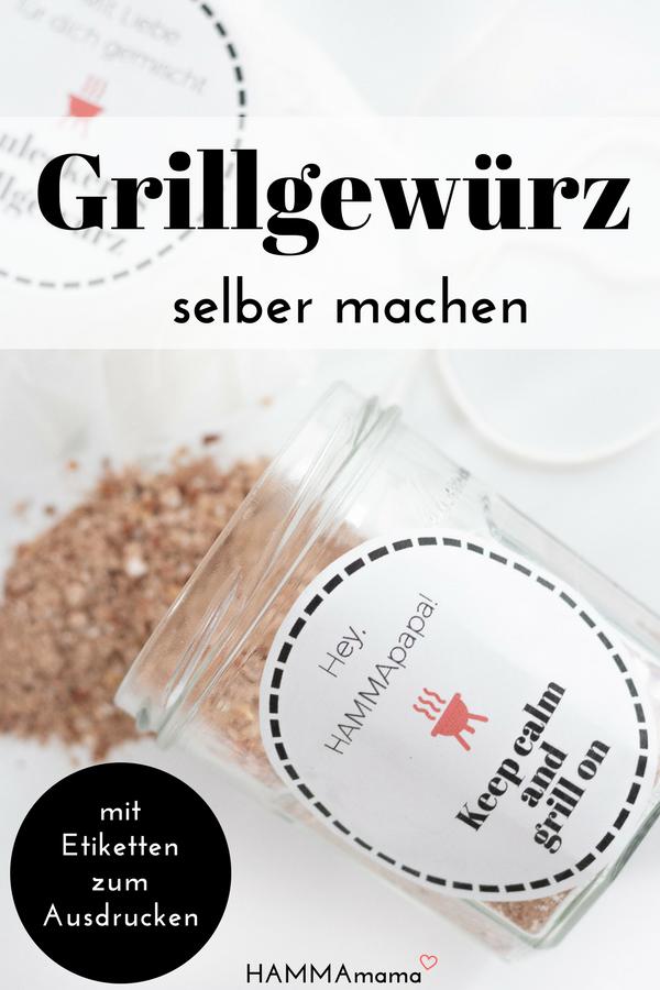 Photo of Sommeren kommer, lager deg nok et velsmakende grillkrydder selv! ° En topp gave (til farsdagen) med vakre etiketter for utskrift