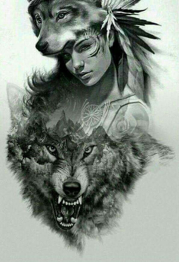My Native Blood Tatouage Wolf Forest Pinterest Tattoos Wolf
