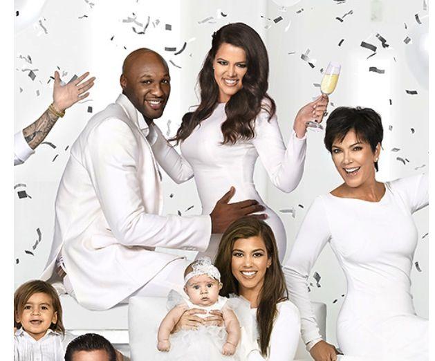 Kardashian Jenner Odom Disick Christmas Card 2012 Khloe Kardashian Kardashian Kardashian Family