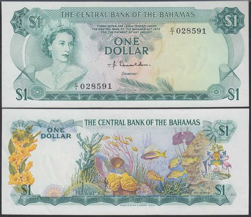 Bahamas 1 Dollar 1968 27 Queen