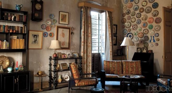 A Traditional Bengali Drawing Room Filled With Photographs