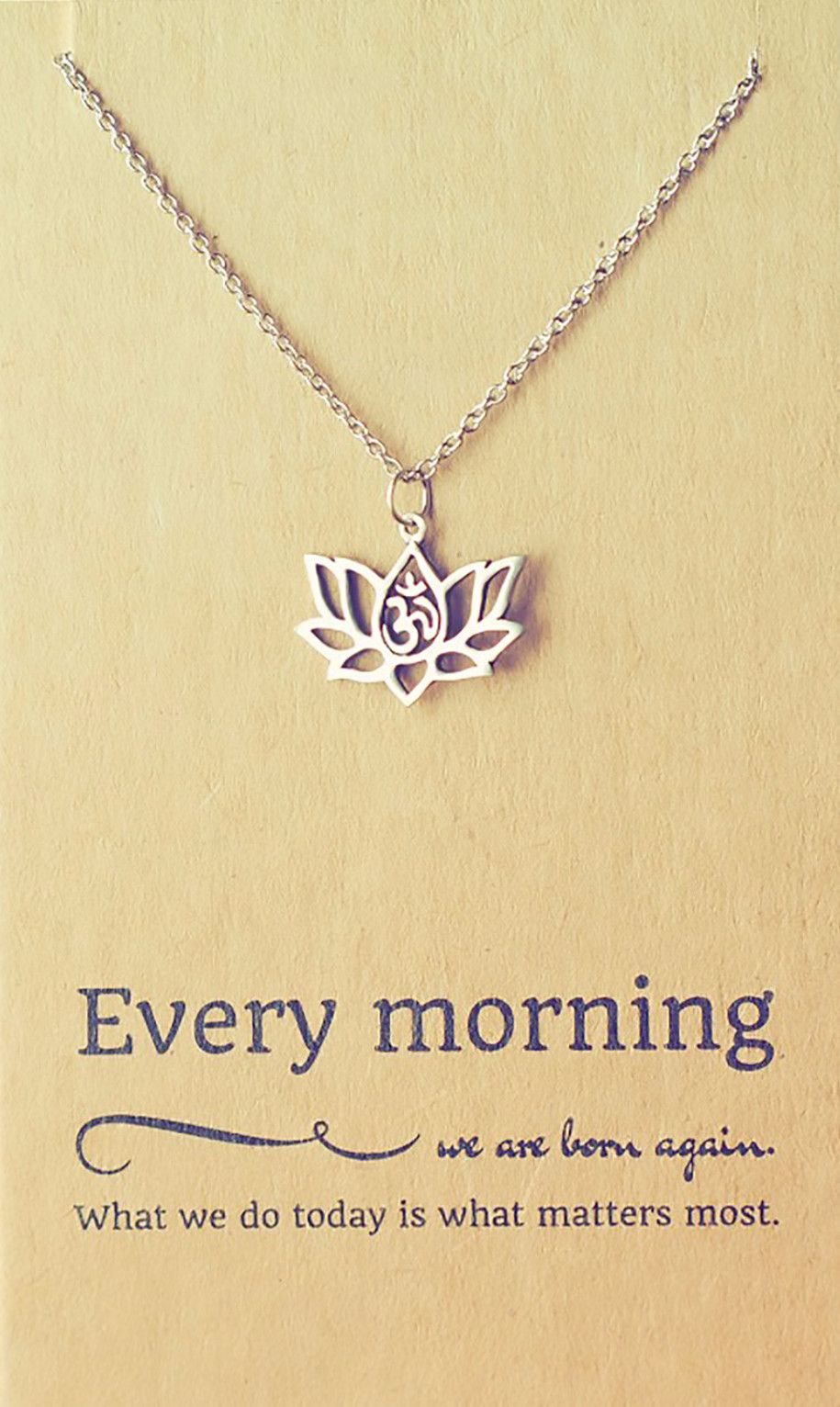 lotus flower necklace meaning