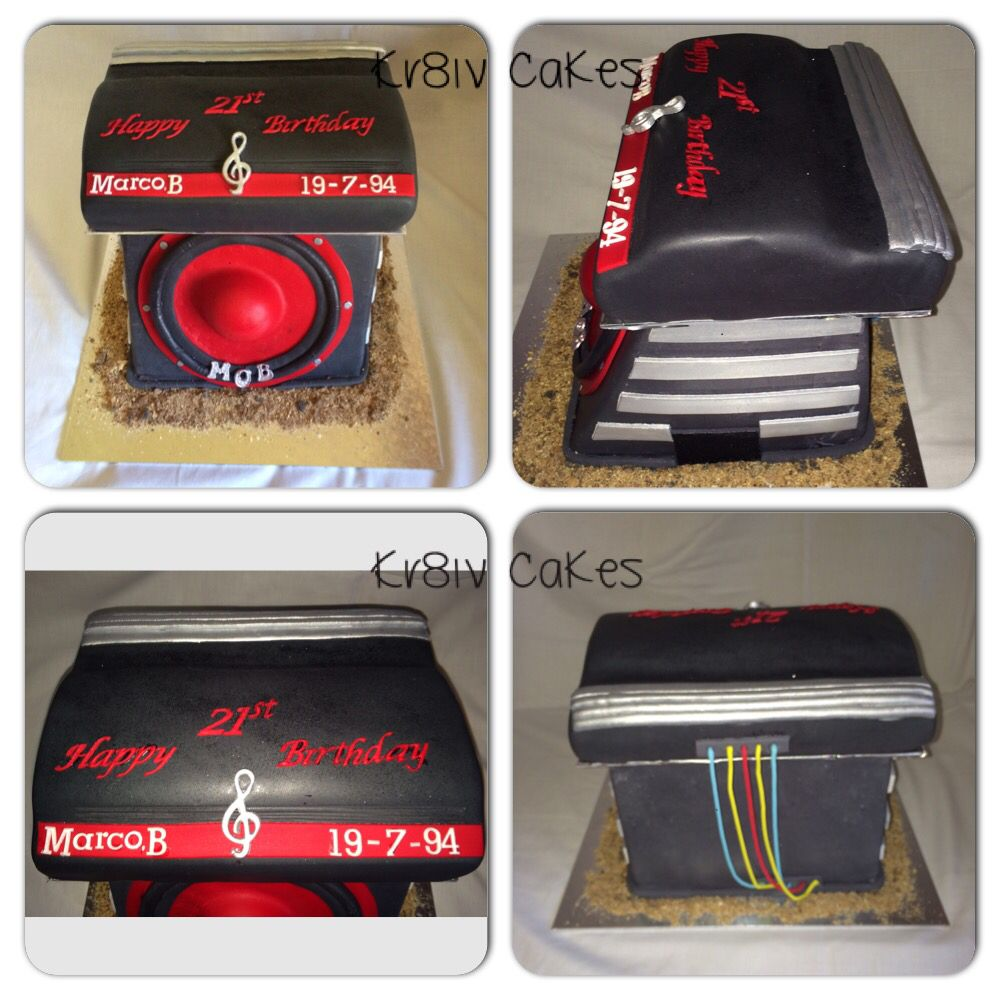 Car amplifier and speaker chocolate cake Kr8iv Inspiration 3