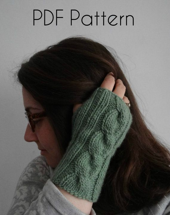 KNITTING PATTERN: Mirror fingerless gloves / Instant download PDF ...
