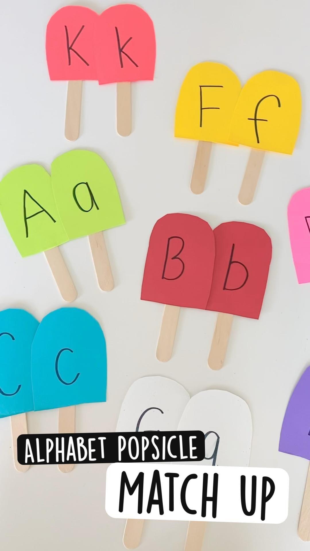 Alphabet Popsicle