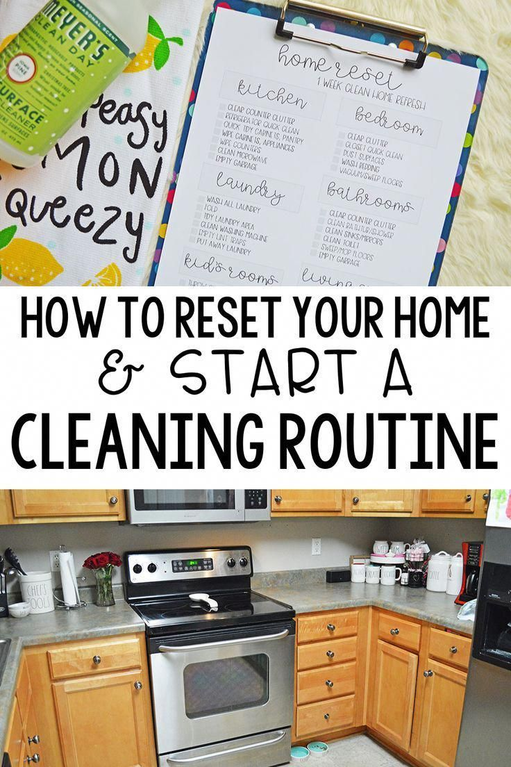 How to reset your home & start a cleaning routine. Having