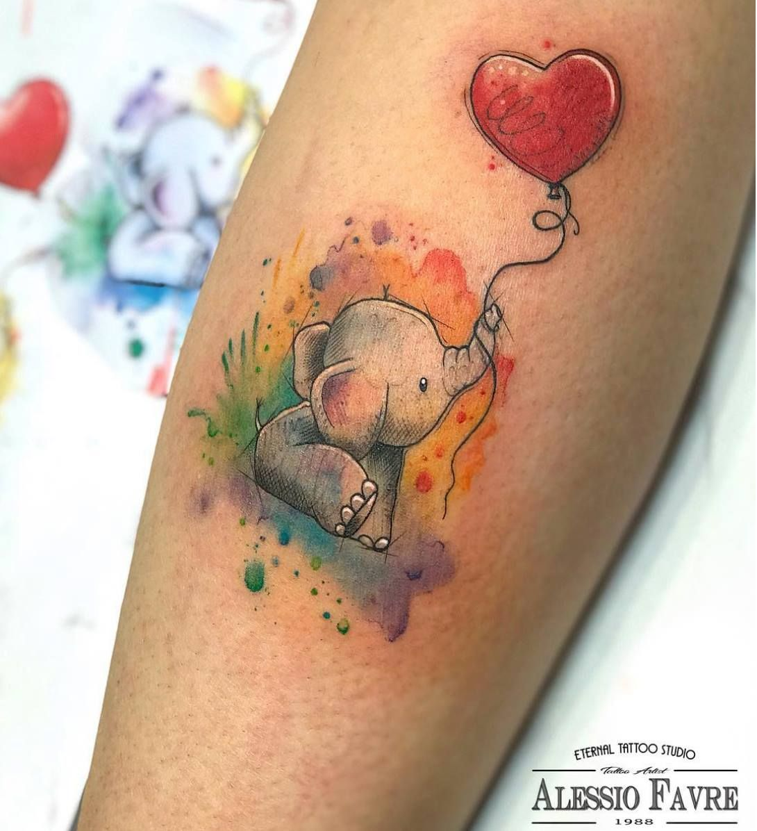 10 Elephant Tattoos You Won't