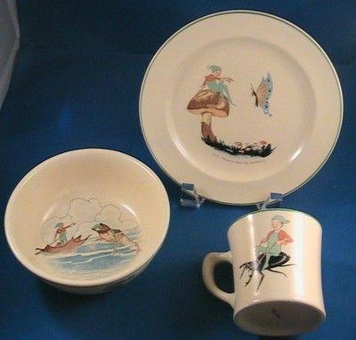 Homer Laughlin Tom Thumb Plate Bowl